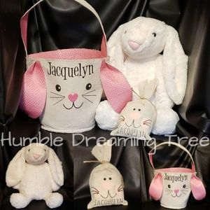 Other - Easter Bundle Embroidered Personalized Stuff Bunny